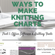 4 different ways to make knitting charts p1