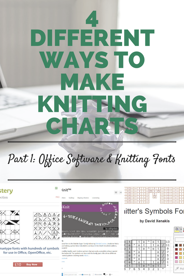 4 different ways to make knitting charts part 1 office software 4 different ways to make knitting charts p1 buycottarizona Image collections