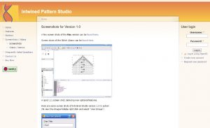 Intwined Pattern Studio, screenshot of the website