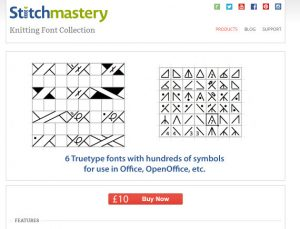 Stitchmastery fonts - picture taken from screenshot of Stitchmastery website