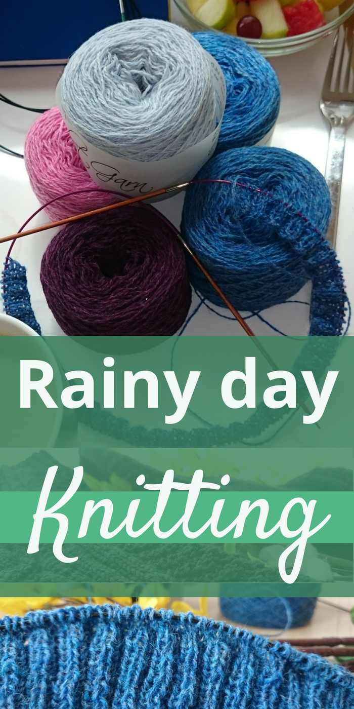 Rainy day knitting