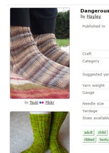 Dangerous Socks For Boys screenshot from Ravelry