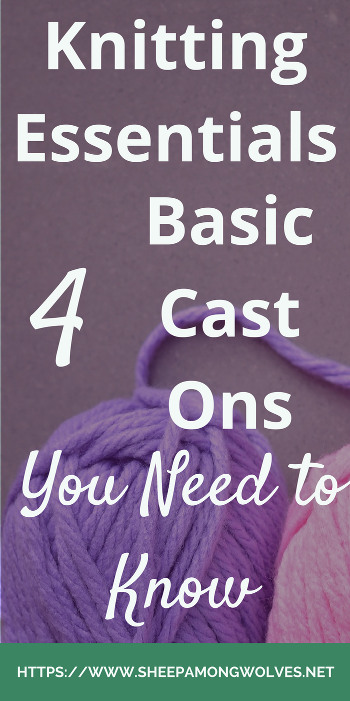 How many cast ons do you know? Have you been stuck using only one cast on for every project? Then here are a few more basic cast ons for you to try out.
