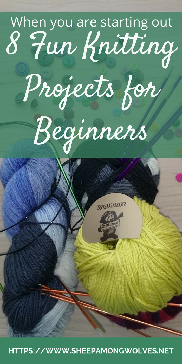 So, you've decided to be a knitter? You have just learned how to cast on and off and how to knit and purl? And now you're wondering where to go from here? What could you knit? And use when it's done? Which projects would be a fun for beginners to learn and practice their knitting skills with?Here I give you 8 types of fun beginner knitting projects. Blog post via sheepamongwolves.net