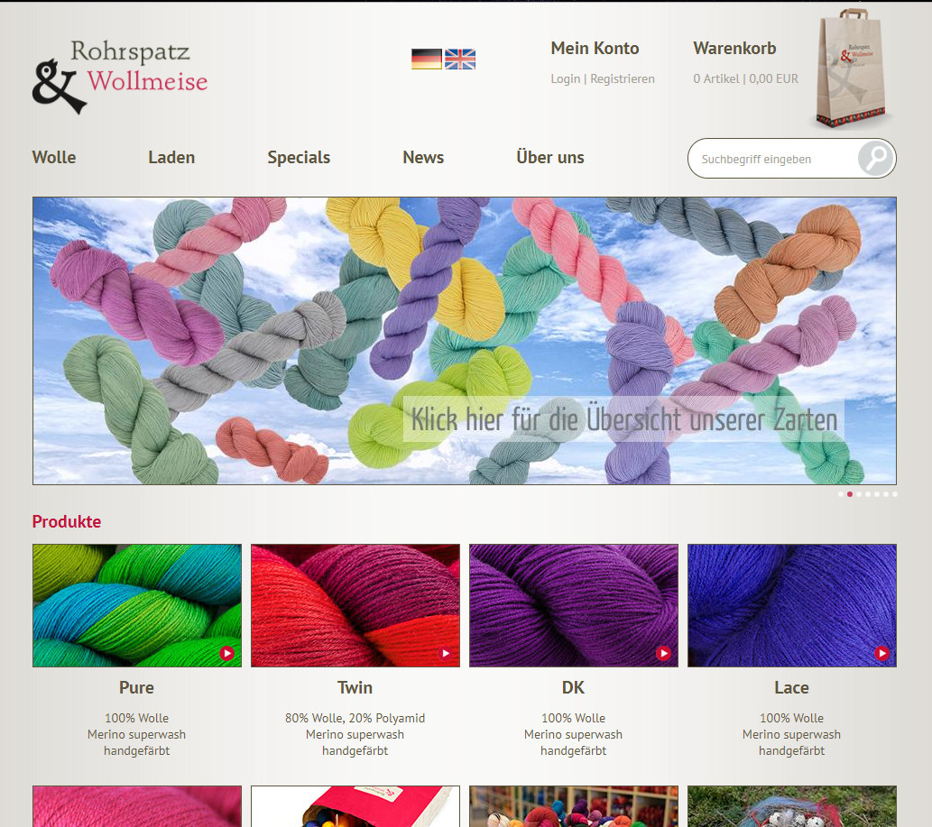 Rohrspatz & Wollmeise - online yarn store
