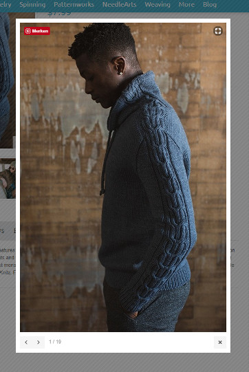 Interweave Knits Fall 2017 - Nelson Pullover (screenshot taken from Interweave Website)