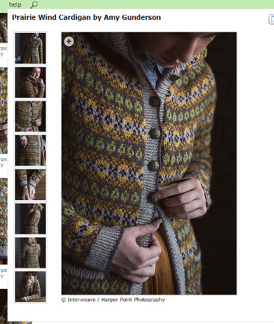 Interweave Knits Fall 2017 - Prairie Wind Cardigan (screenshot taken from Ravelry)