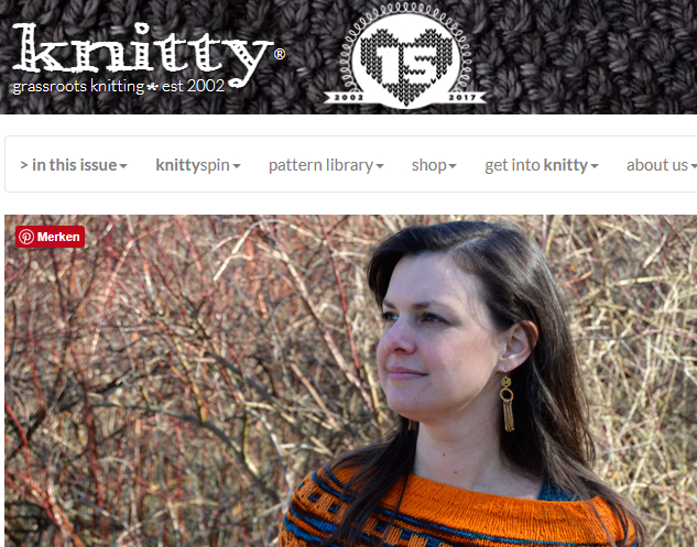 Review Knitty Deep Fall 2017 - Screenshot taken from Knitty front page