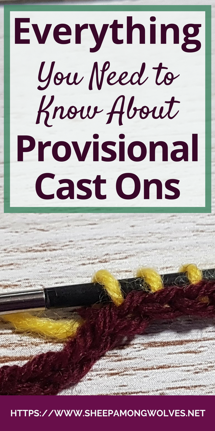 So you're new provisional cast ons? But you need one for a project you just have to knit? Don't worry, here is everything you need to know to get started!