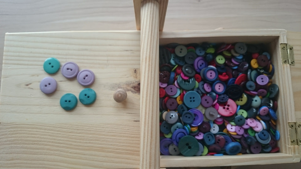 Stash - Buttons, unsorted. I have a few ideas for how to store them in future
