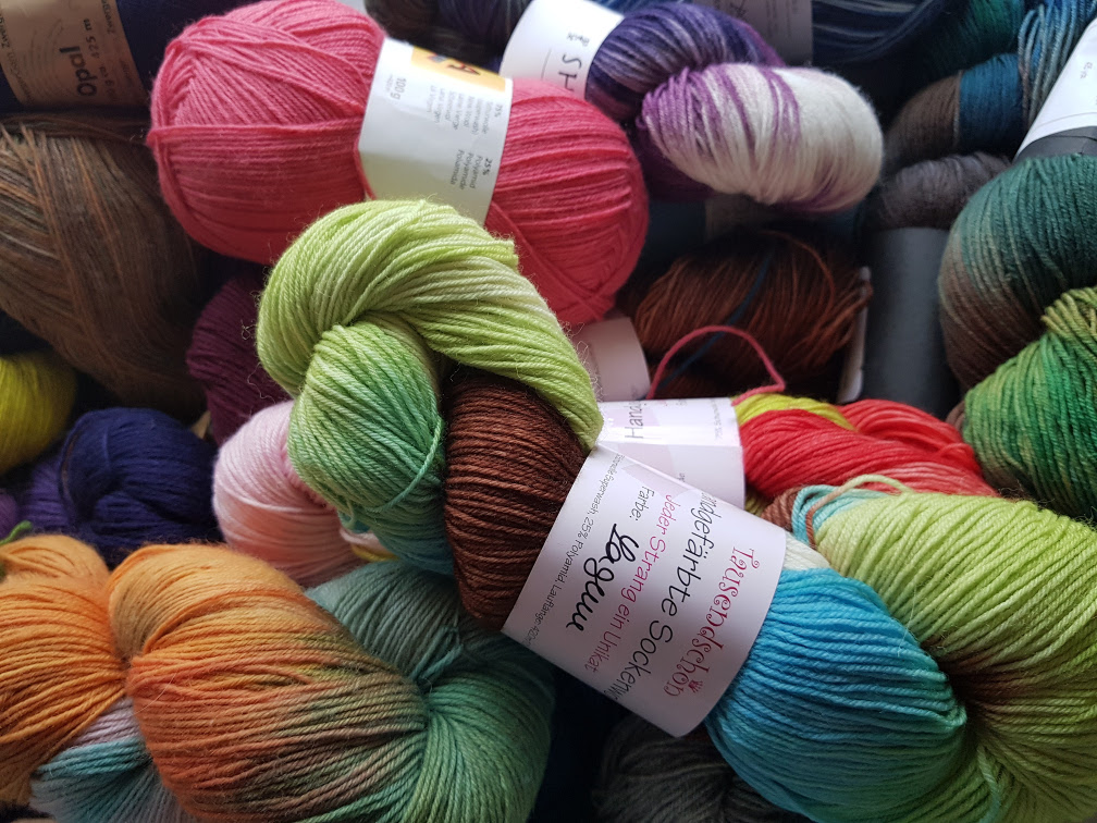 A small part of some of my oldest stash yarn