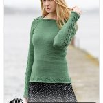 Free Beginner Sweaters - 164-14 Green Forest by Drops Design (screenshot from Ravelry)