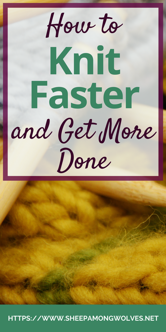 Do you wish you could knit faster? Is your to-knit-list growing and you can't keep up? Click here and find out how you can teach yourself to knit faster!