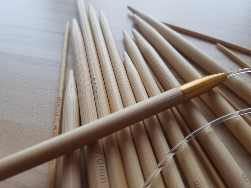 knitting needle - bamboo