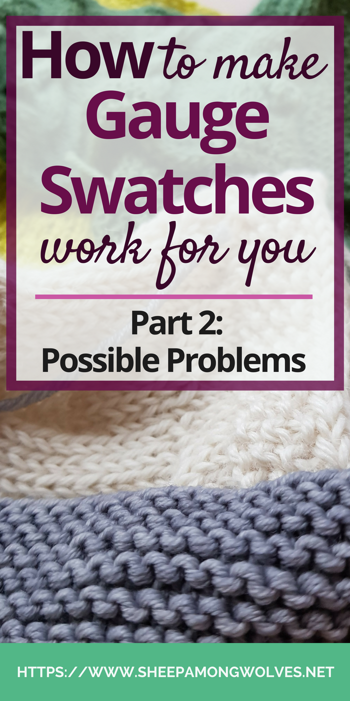 Do you feel like your gauge swatches keep lying to you? What could be the problem? What do you do if you can't get stitch and row gauge? And how do you know if your gauge is close enough? Click here and find out!