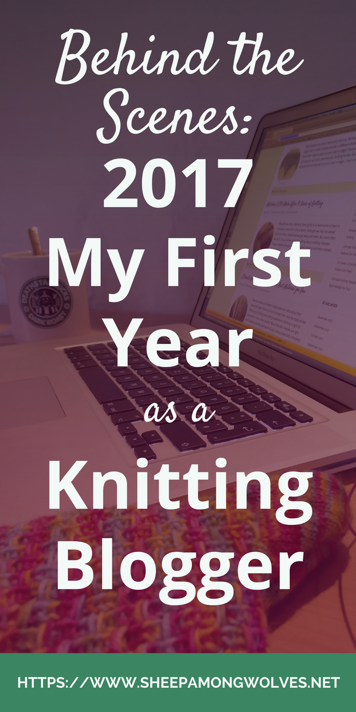 Here is what I've learned in my first year as a knitting blogger. And what I want to work on or accomplish in 2018. Click on through to read more!