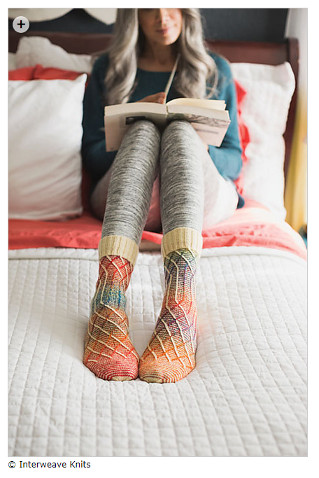 Things I loved: Slippery Slope Socks by General Hogbuffer. I must knit these!