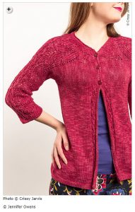 spring knitting patterns - Barling by Jennifer Owens