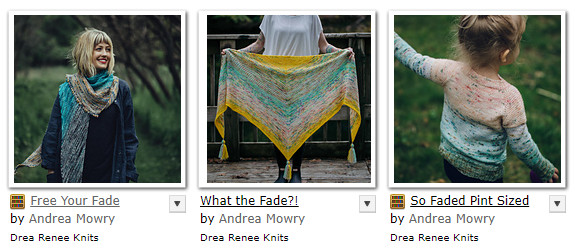 spring knitting patterns - More Fade knits by Andrea Mowry