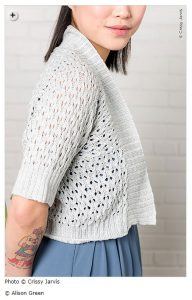 spring knitting patterns - Maida by Alison Green