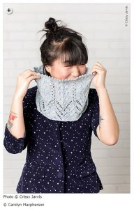 spring knitting patterns - Ninfa by Carolyn Macpherson