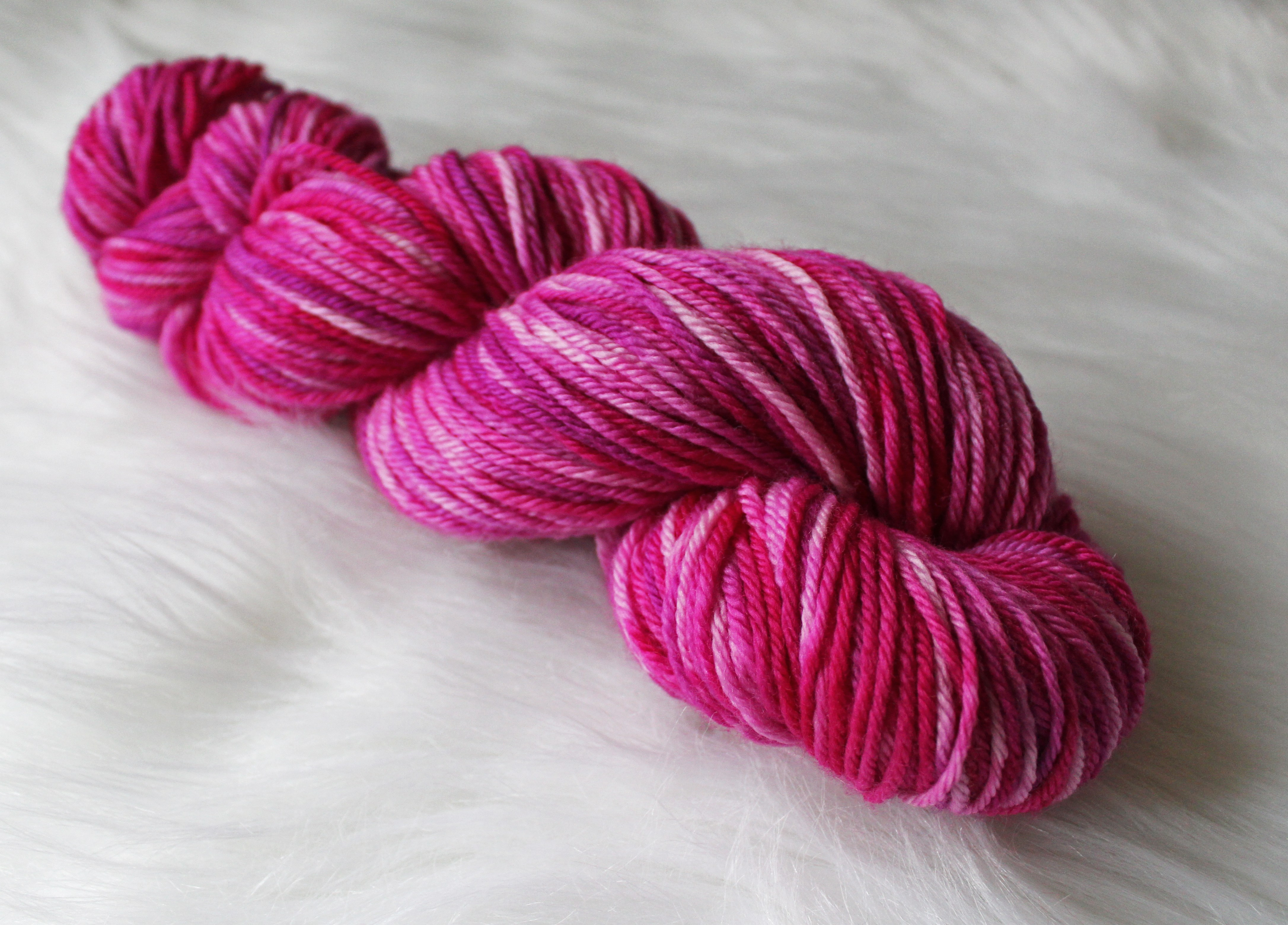 recommended dyers - Roses, a colorway of Springtime in Paris (image ©Unicorn Yarn Co.)