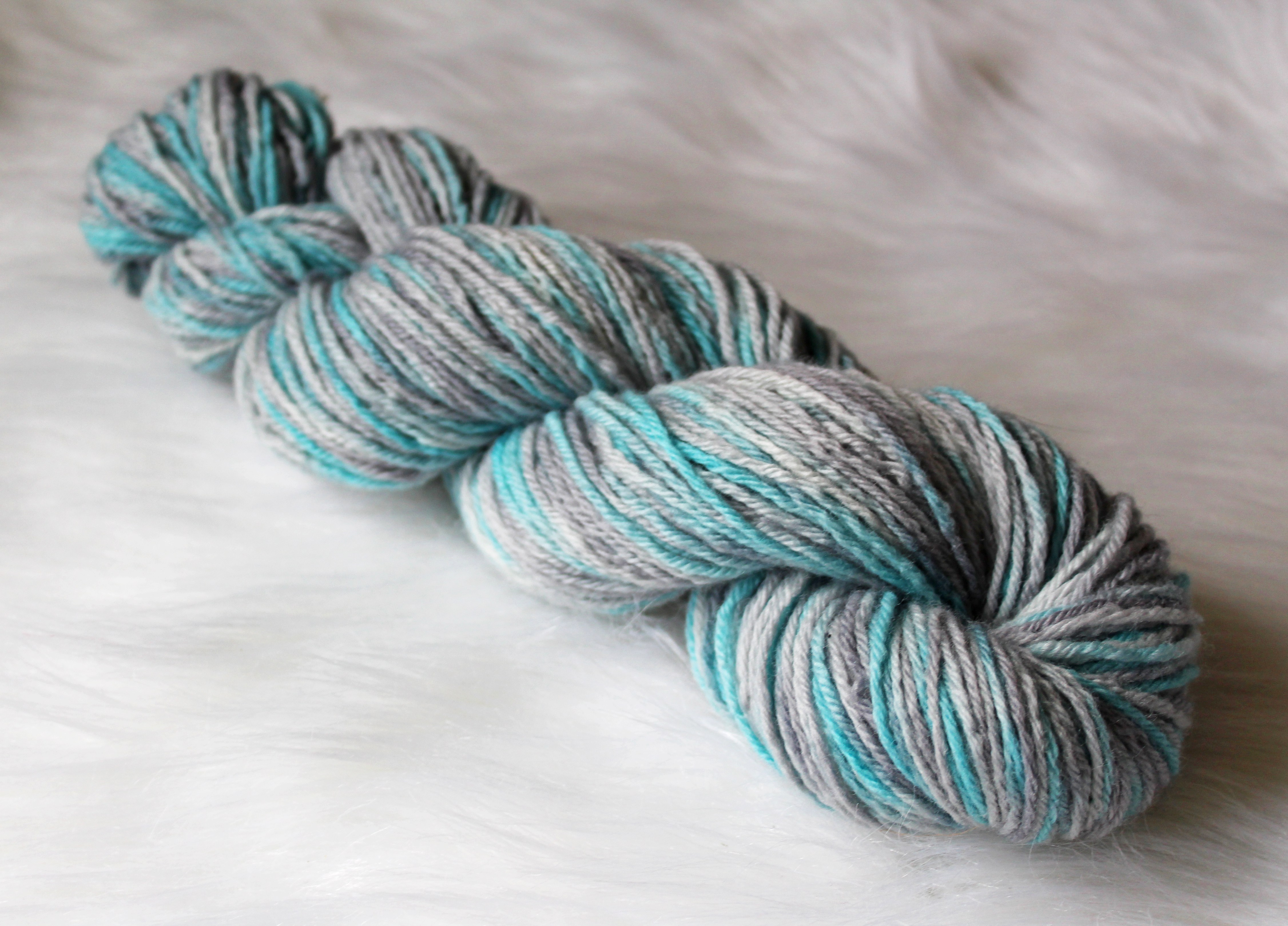 recommended dyers - Sky, a colorway of Springtime in Paris (image ©Unicorn Yarn Co.)