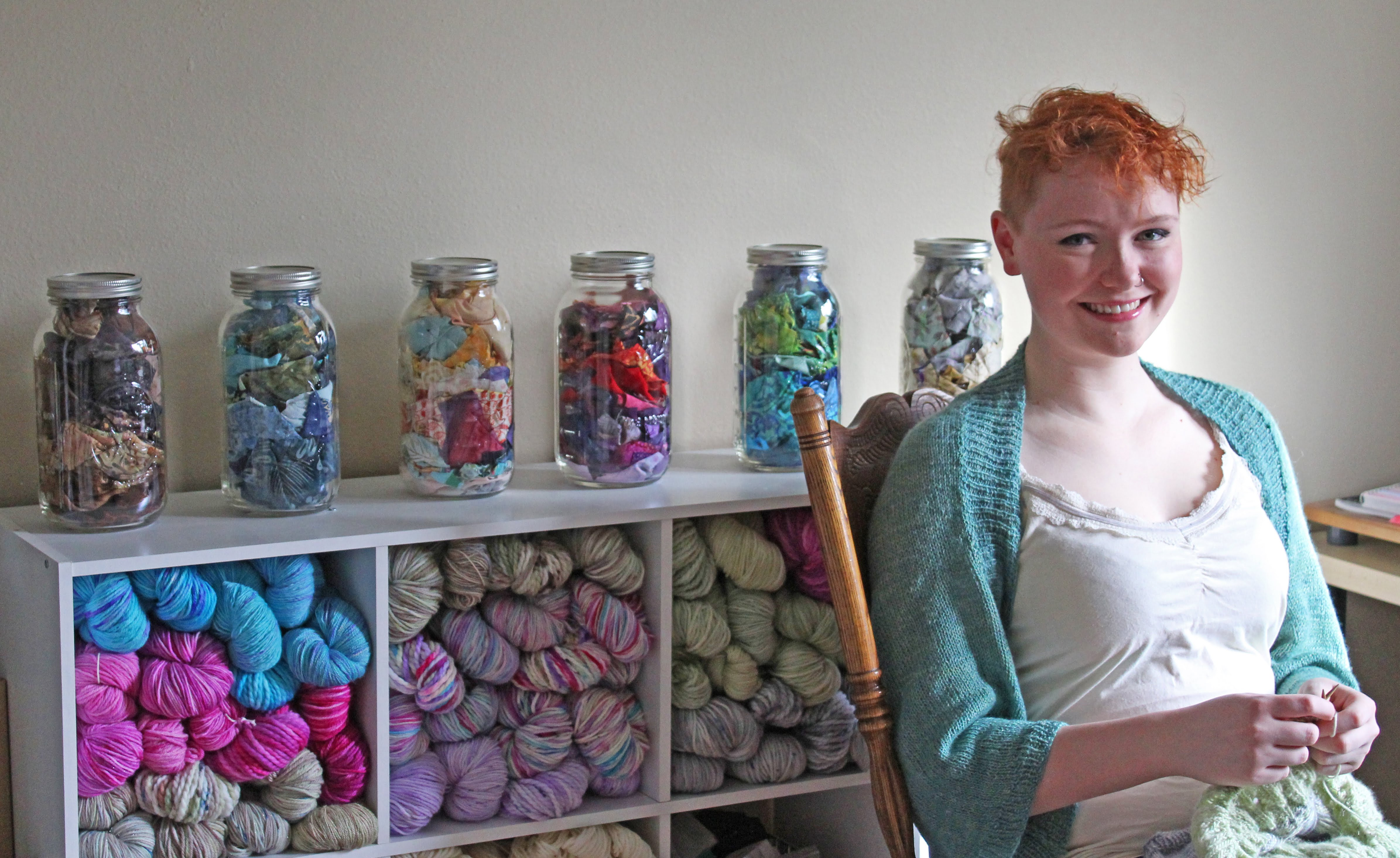 interview - Katie relaxing among her creations