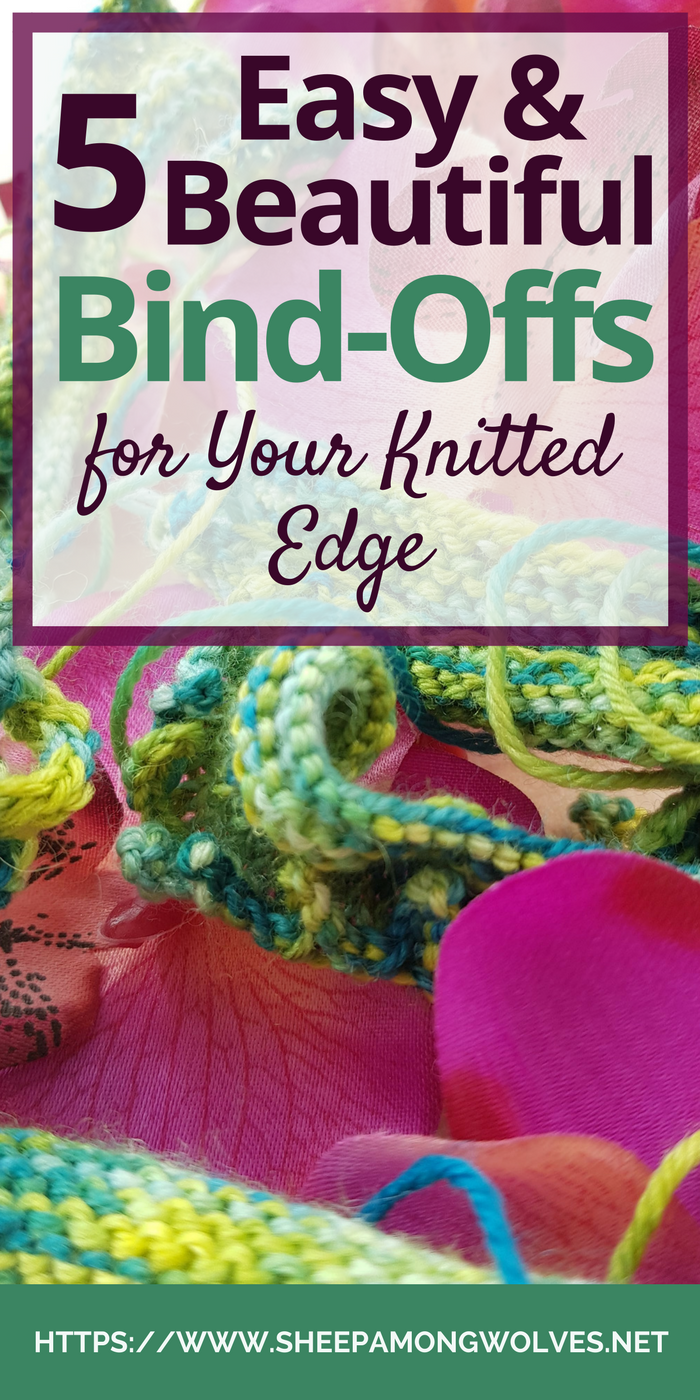 Are you looking for a beautiful bind-off for your lace shawl? Or a bind-off that will match your decorative cast on? Are you looking for something fun and whimsical to end your knit project with? I may have just the thing for you then! Click on through to learn five beautiful and easy bind-offs.