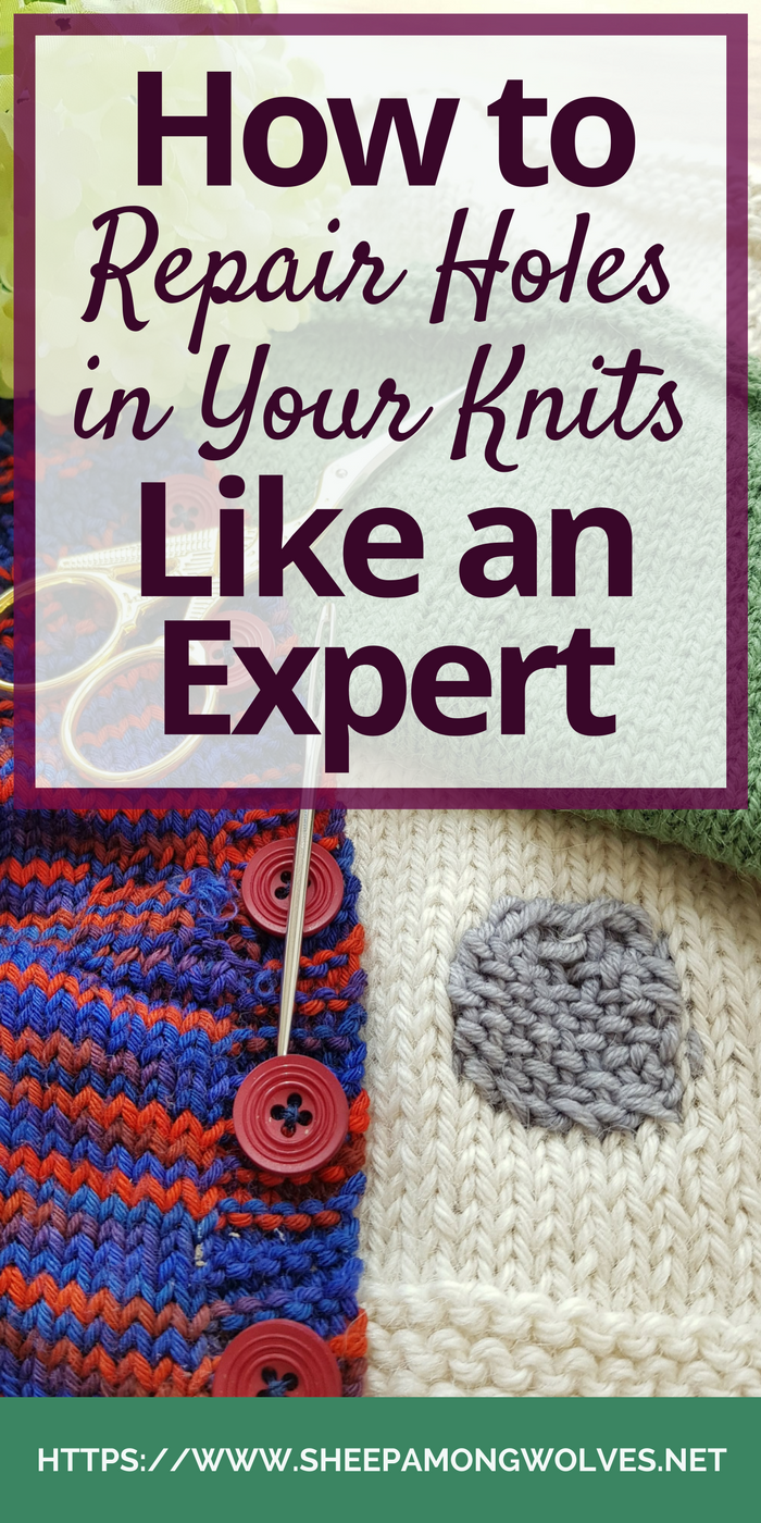 We sock knitters know this: Sooner or later you'll wear right through even your most robust socks. We spend a lot of time knitting them, so we don't want to throw them away if we don't have to. But what to do? We fix it! Come on over and learn how to patch or darn knits like an expert!