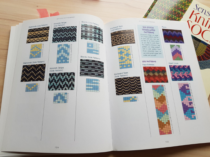 Knitting book review - Sensational Knitted Socks and More Sensational Knitted Socks - a look inside