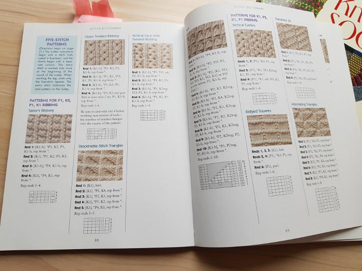 Knitting book review - Sensational Knitted Socks and More Sensational Knitted Socks - a look inside