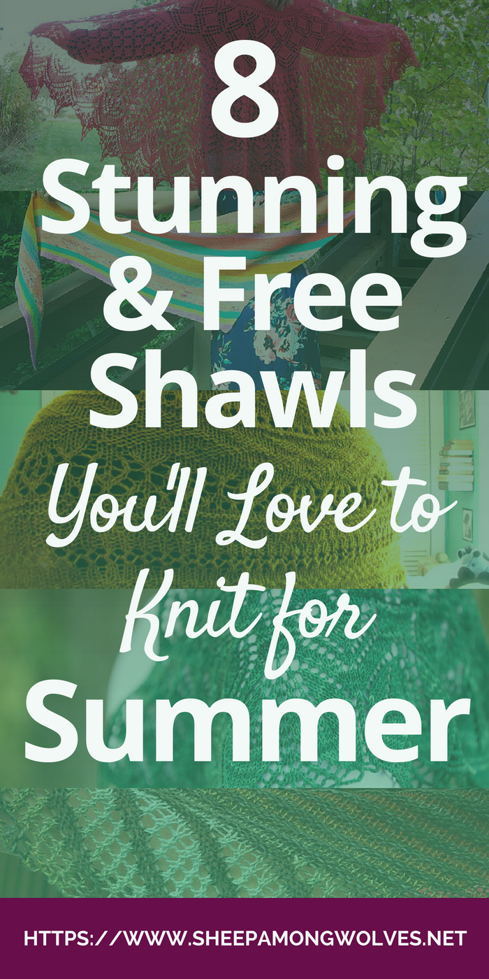 Shawls are the perfect accessory for summer. Lightweight and airy, they warm you just enough when you're in the shade. They are small and easy to carry should you get too warm after all. And they are fun to knit! Click here and see my top 8 picks for free summer shawls!