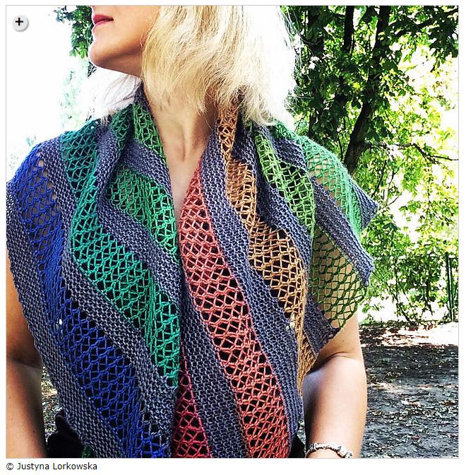 Summer shawls - Playground Shawl by Justyna Lorkowska