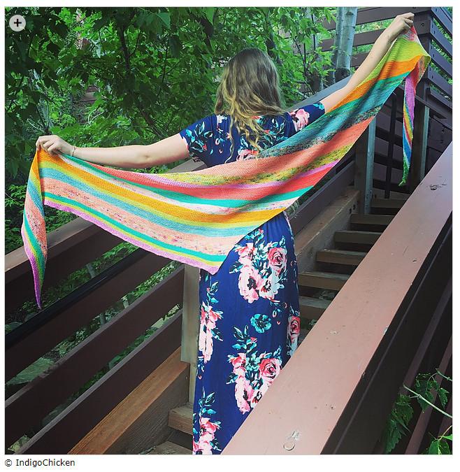 Summer shawls - Scrappy Bias Shawl by Emily Clawson