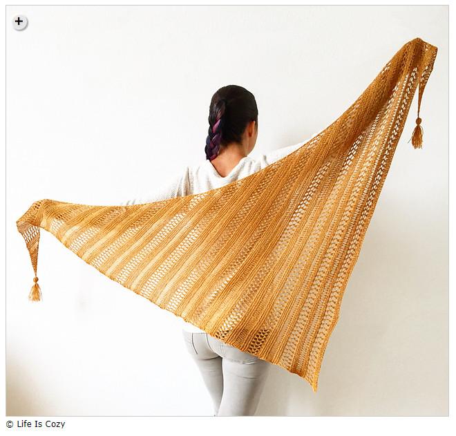 Summer shawls - Stormy Sky Shawl by Life Is Cozy