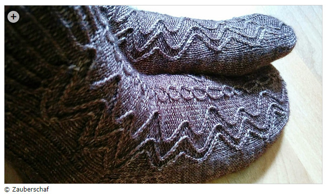 Second Sock Syndrome - Complex enough to keep you going? Drachenaugen by Scarlet Plume