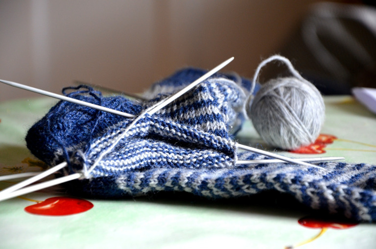 Second Sock Syndrome - stockphoto of sock project